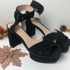 Stuart Weitzman Carmina Black Platform Sandal NEW